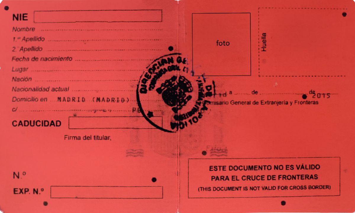Requisitos para solicitar la tarjeta roja en España